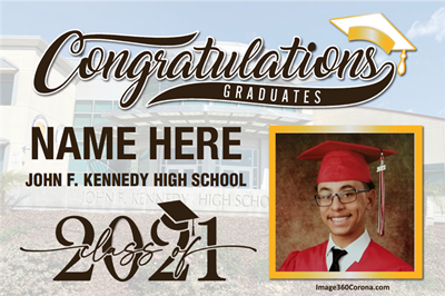 Congratulations J.F.K. Class of 2021- Custom Horizontal